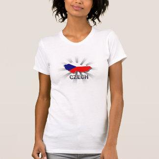 T-shirt Carte tchèque 2,0 de drapeau