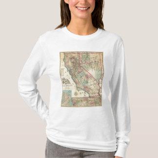 T-shirt Carte topographique de chemin de fer et de comté,