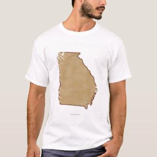 T-shirt Carte topographique de la Géorgie