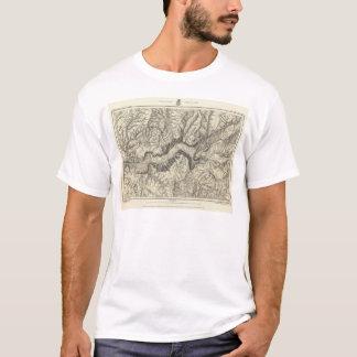 T-shirt Carte topographique de la vallée de Yosemite
