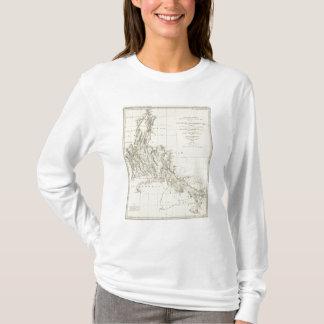 T-shirt Carte topographique du Nevada et de l'Arizona