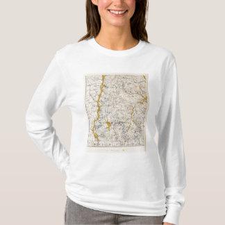T-shirt Carte topographique et glaciaire du New Hampshire