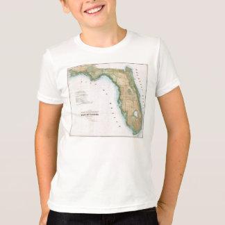 T-shirt Carte vintage de la Floride (1848)