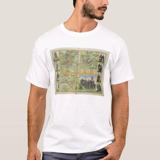 T-shirt Cartes de York, de Shrewsbury, de Lancaster, et de