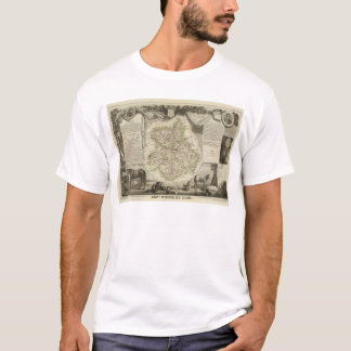 T-shirt Cartes d'illustration