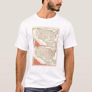 T-shirt Cartes thématiques des Etats-Unis