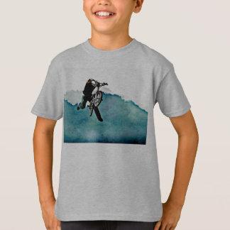 T-shirt Cascade de bicyclette du style libre BMX