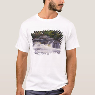 T-shirt Cascades, route de Kancamagus, blanche