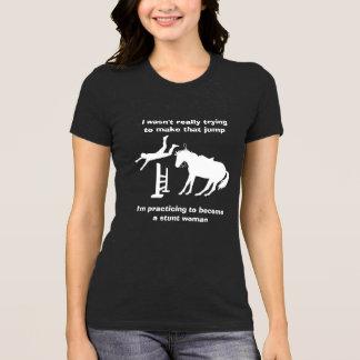 T-shirt Cascadeuse sautante de cheval drôle dans la