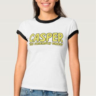 T-shirt Casper le logo amical de jaune de fantôme