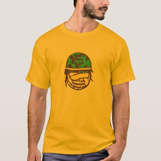 T-shirt casque militaire volleyball face cartoon