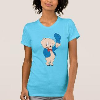 T-shirt Casquette de ondulation gros du porc |