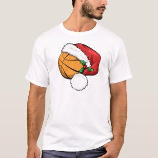 T-shirt Casquette de Père Noël de basket-ball
