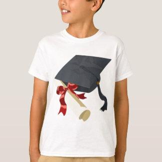 T-shirt Casquette et diplôme d'obtention du diplôme
