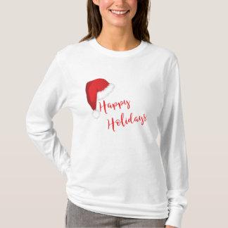 T-shirt Casquette heureux de fête de Père Noël de vacances