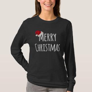 T-shirt Casquette lunatique de Père Noël de Joyeux Noël