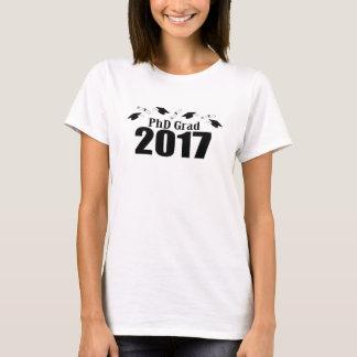 T-shirt Casquettes du diplômé 2017 de PhD et diplômes
