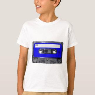 T-shirt Cassette bleue d'étiquette des années 80 vintages