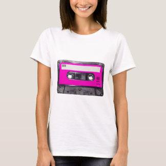 T-shirt cassette d'étiquette de rose des années 80