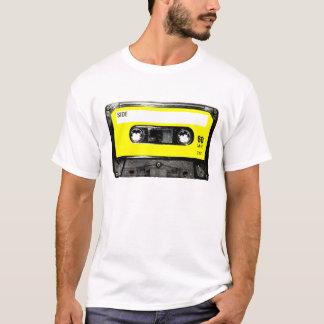 T-shirt Cassette jaune de cru d'étiquette