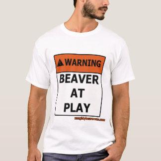 T-shirt Castor d'avertissement au jeu