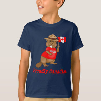 T-shirt Castor fièrement canadien