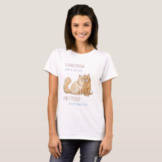 T-shirt cat buddies - best friends quote-part
