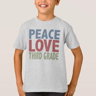 T-shirt Catégorie d'amour de paix troisième