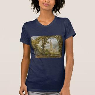 T-shirt Cathédrale de Salisbury du jardin de l'évêque
