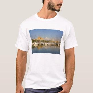 T-shirt Cathédrale et marina, Palma, Majorque, Espagne