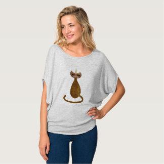 T-shirt Caticorn d'or drapent la pièce en t