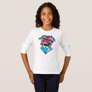 T-shirt Catwoman de Chibi s'asseyant placé sur le grand