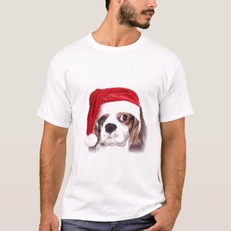 T-shirt cavalier de Père Noël d'épagneul du Roi
