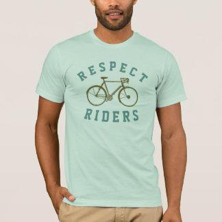 T-shirt cavaliers de vélo de respect