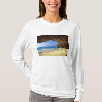 T-shirt Caverne à la baie française, île de San Salvador,