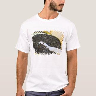 T-shirt Caviar noir et une cuillère de nacre à