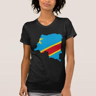 T-shirt CD de carte de drapeau du Congo