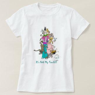 """T-shirt """"Ce n'est pas mon défaut """""""