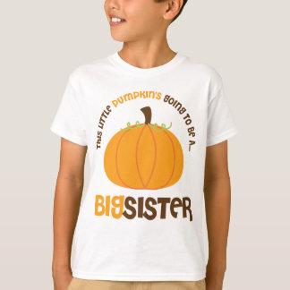 T-shirt Ce petit citrouille va être une grande soeur