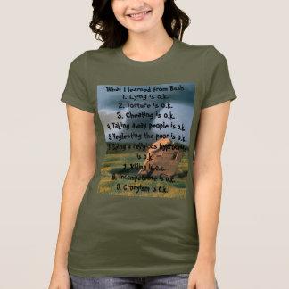 T-shirt Ce que j'ai appris de Bush