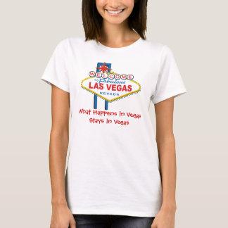 T-shirt Ce qui se produit dans des séjours de Vegas à