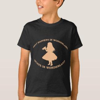 T-shirt Ce qui se produit dans des séjours du pays des