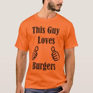 T-shirt Ce type aime des hamburgers