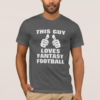 T-shirt Ce type aime le football d'imaginaire