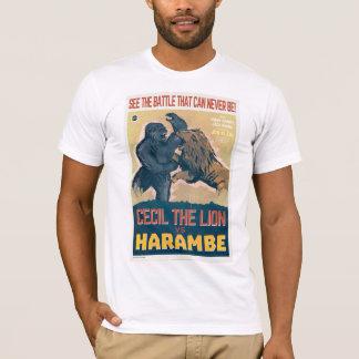 T-shirt Cecil le lion CONTRE Harambe le film de gorille
