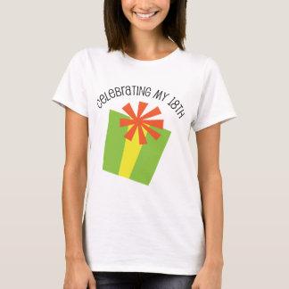 T-shirt Célébration de mon 18ème anniversaire