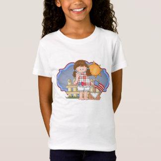 T-Shirt Célébrez 4 juillet le panier de fille et de