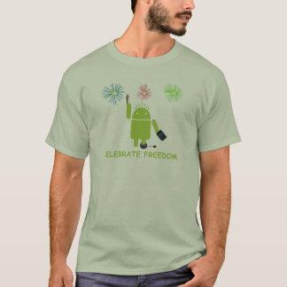 T-shirt Célébrez la liberté (le programmateur de logiciel