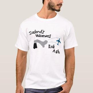 T-shirt Cendre de coup-de-pied des volcans de l'Islande