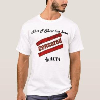 T-shirt Censuré par ACTA